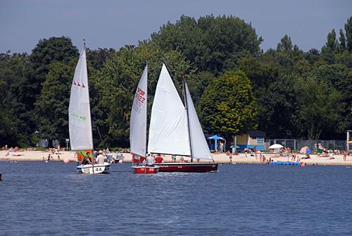 Segeln auf dem Unterbacher See